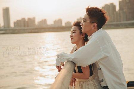 【台北婚紗】與你散步在台北。生活感劇照式輕婚紗