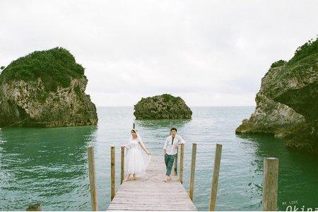 【沖繩電影底片婚紗】好想要時間就停止在這一刻