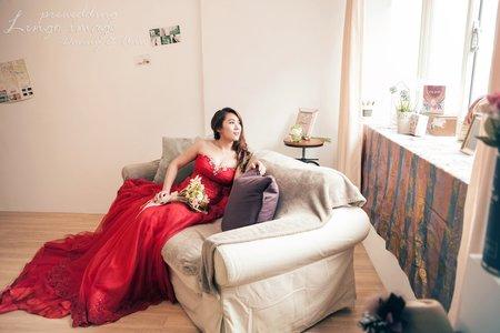 【韓式婚紗】紅與黑 (棚+外)