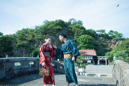 【日本和歌山婚紗】日系清新雜誌風。婚紗Ι和服