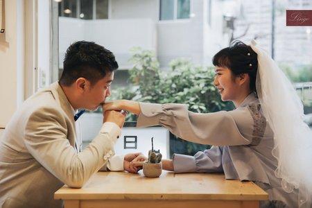 【寵物婚紗】一起喝杯咖啡吧!!