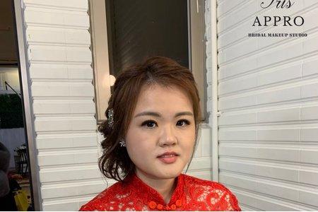 中式旗袍盤髮造型