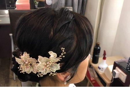 中式經典盤髮造型