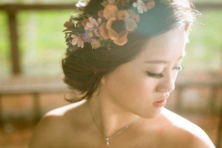 台北‐新娘秘書EVA‐不凋花造型