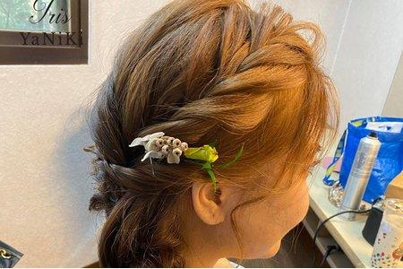 日系甜美梳辮編髮造型