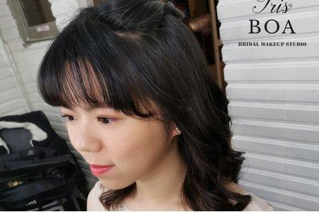 簡約自然捲髮造型分享