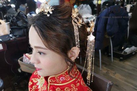 清秀優美的中式妝髮造型
