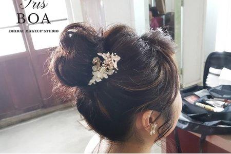 韓系丸子頭造型分享