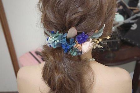 雅娟新娘/低馬尾乾燥花