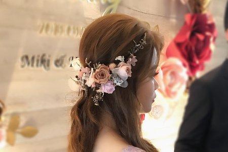 現場婚禮仙氣造型分享