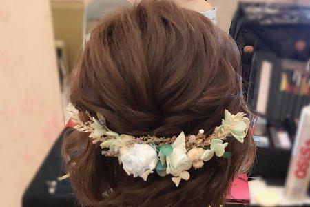 短髮新娘造型分享