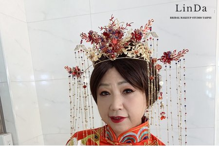 中式華麗的盤髮造型~