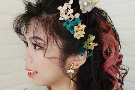清新唯美的捲髮造型~~