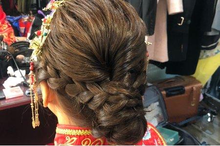 古典中式盤髮造型