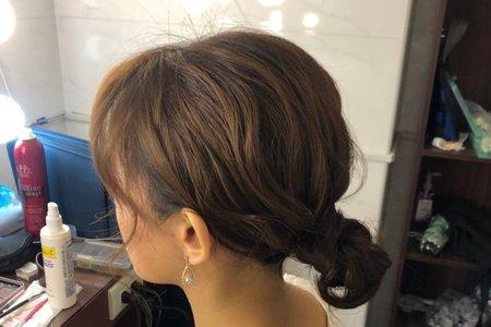 短髮低盤髮造型分享