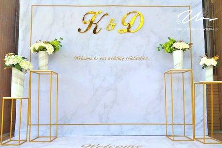 白金大理石 / 主題式婚禮佈置