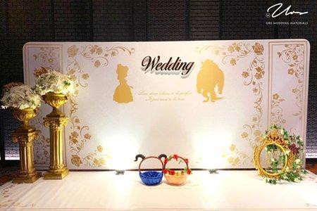【美女與野獸】主題婚禮佈置