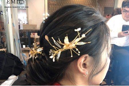 中式古典低盤髮髮型分享~