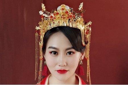 中式端莊優雅妝髮分享