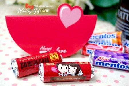 婚禮小物-客製化曼陀珠貼紙卡片喜糖