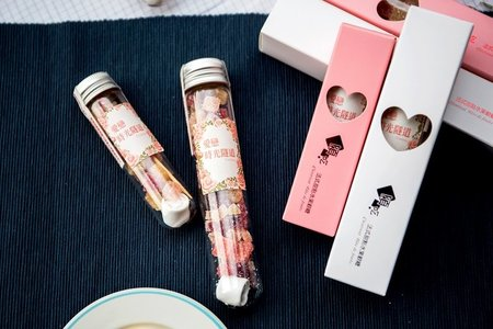 頃吃-法式水果軟糖水晶試管-桌上、探房禮