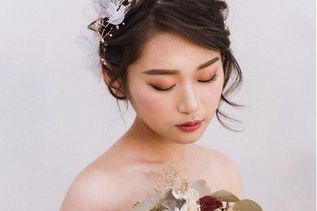 婚紗拍攝/甜美盤髮/優雅時尚