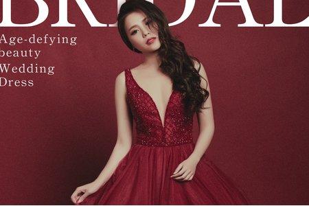 [禮服精選] 紅色小心機,深V蓬裙
