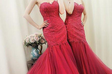 [禮服精選] 雙色裙擺展現立體層次感