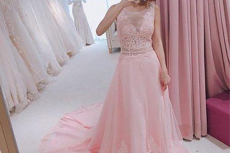 [禮服精選] Aline粉色柔美曲線