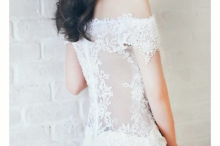 [禮服精選] 削腰設計-美背蕾絲