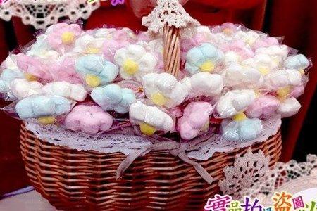 糖霜花朵棉花糖(100支)大花籃組合