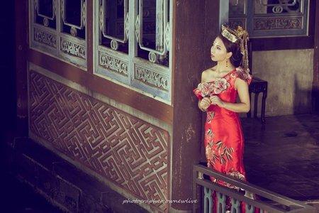 中式婚紗造型