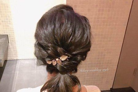 簡單優雅伴娘髮