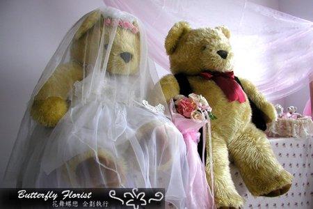 婚禮對熊租借佈置-求婚 結婚 婚紗道具