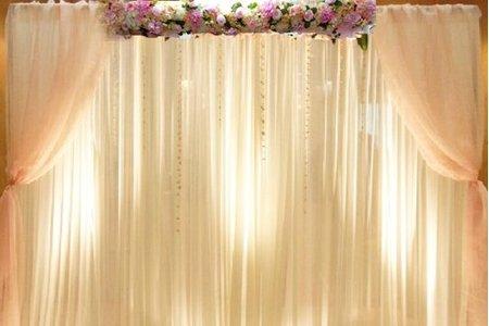 人造頂上花美式布幔背板