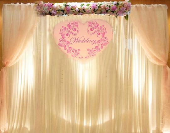 美式人造花幔紗拱門作品