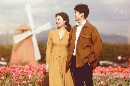 輕甜情侶專案C -浪漫花系情侶照