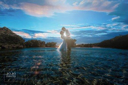 輕甜情侶專案D -海洋度假風情侶照