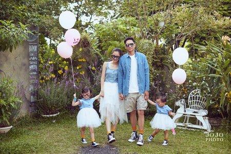 JOJO婚紗|清新全家福👨👩👧👧|婚紗攝影|客照分享
