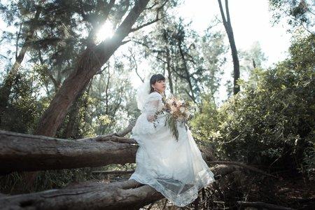森林系古董婚紗