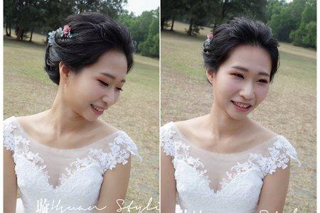 自助婚紗 / 造型師側拍 / 新秘 Hsuan曉璇 /自然風格 /精緻妝容