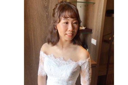 結婚家宴單妝 / 短髮新娘 / 自然風格