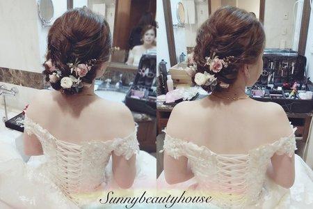 婚禮新娘髮妝整體造型