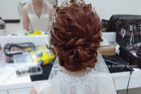 婚禮新娘髮妝整體造型設計