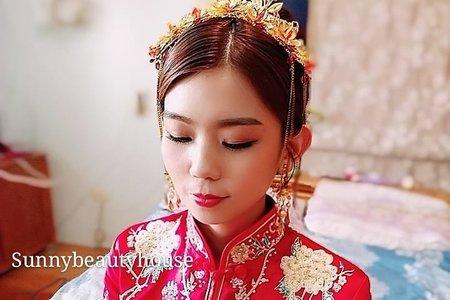 中式龍鳳掛/髮妝造型設計