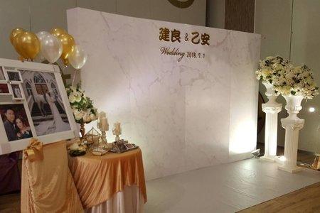 婚禮布置及背板