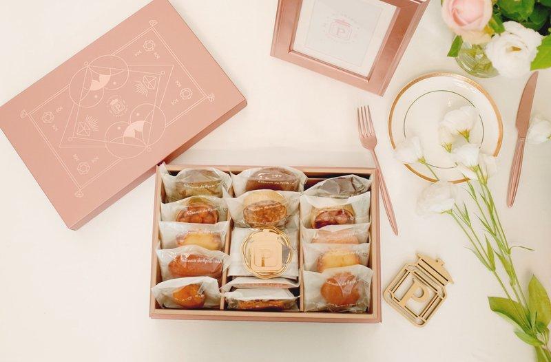 璀璨玫瑰金M型喜餅組合作品