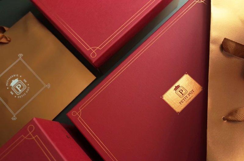 經典紅金M盒(為硬版材質)作品
