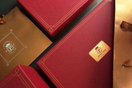 經典紅金M盒(為硬版材質)