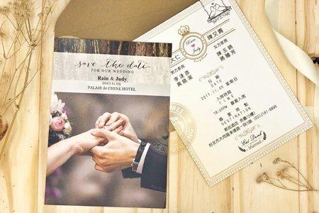 M4616《美式明信片婚卡(彩印版)》